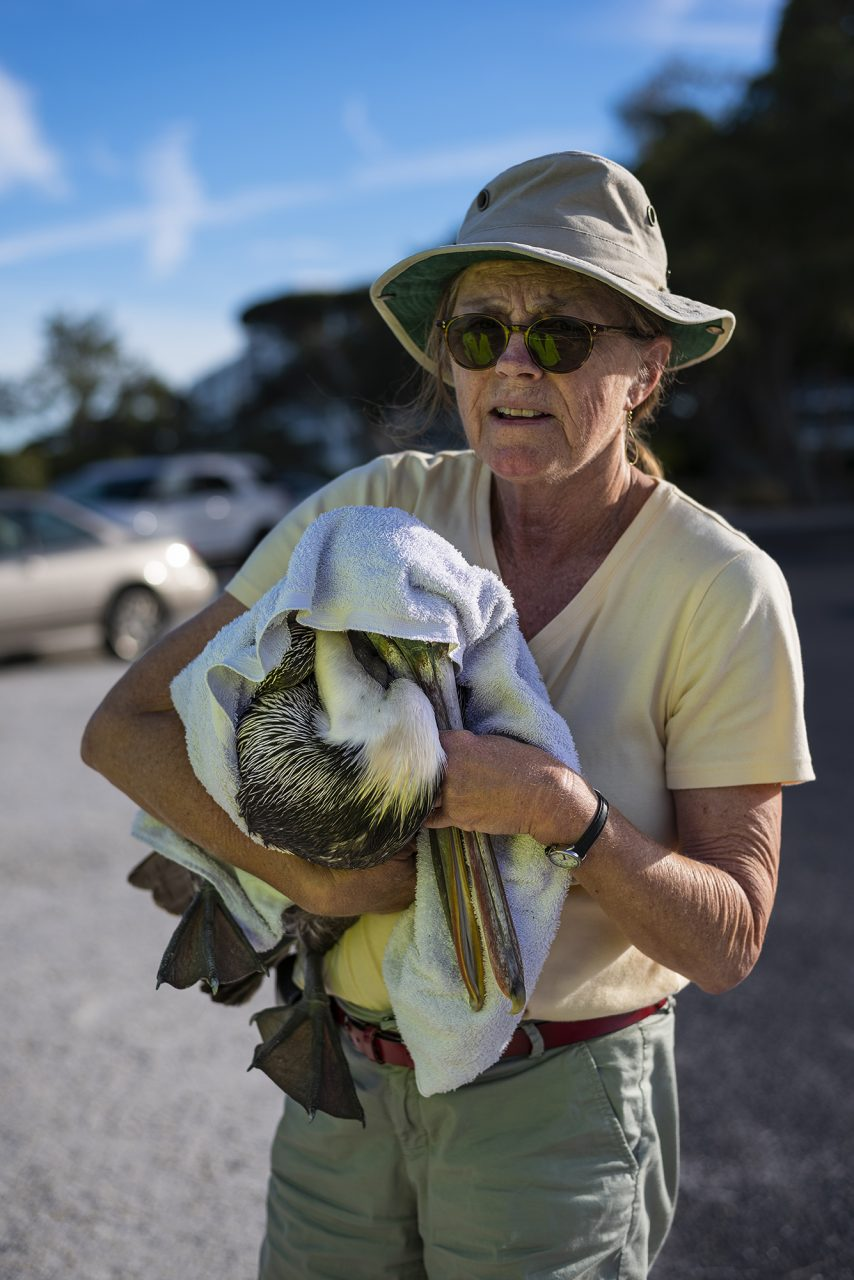 Rescuer Carrying Pelican